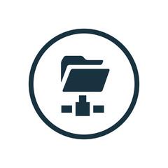 web folder circle background icon.