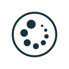 loading circle background icon.