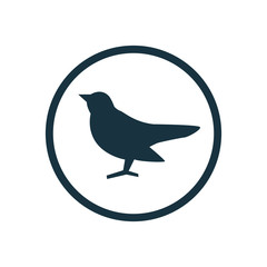 bird circle background icon.
