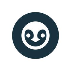 penguin circle background icon.