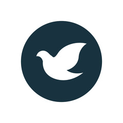 dove circle background icon.