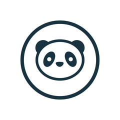 panda circle background icon.
