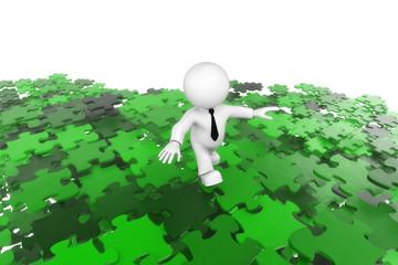 Puzzlemann grün