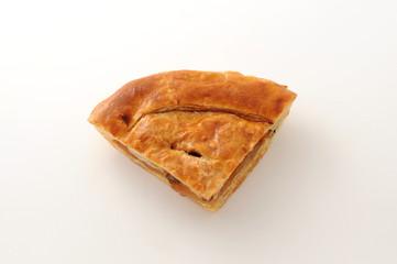 アップルパイ パン 白背景
