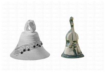 Music bells ,note and bass