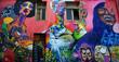 Leinwanddruck Bild - graffiti