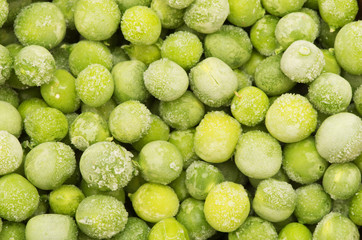 frozen peas background