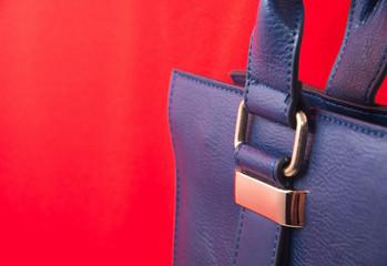 Leather bag. Fashion concept