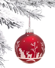 Bauble and Christmas tree