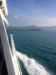 on the ship to island