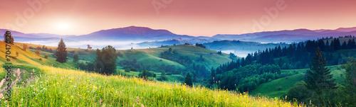 Leinwanddruck Bild mountain