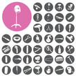 Hairdressing icon set related symbol. Vector Illustration eps10