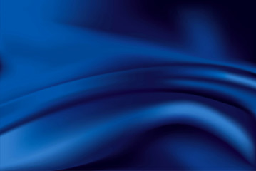 Vector of blue silk background