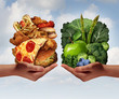 Leinwandbild Motiv Nutrition Choice