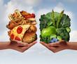 Leinwanddruck Bild - Nutrition Choice