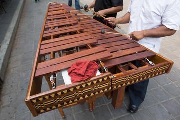 marimba players in Mexico