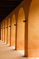 orange color Spanish arches