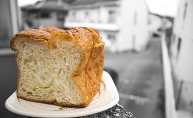 Morning bread: Japanese premium bun long squre Danish bread mild