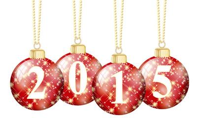Weihnachtskugeln 2015 rot