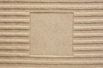 Embossed square in the sand