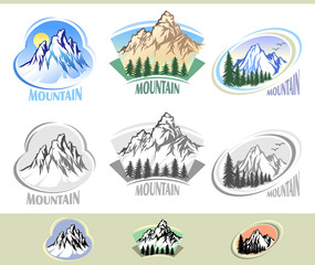 MOUNTAIN ICON SET