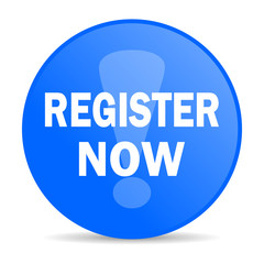 register now internet blue icon