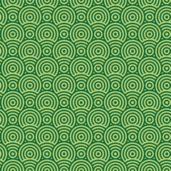 Abstract green circle seamless texture