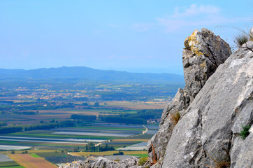 rocks on mountain