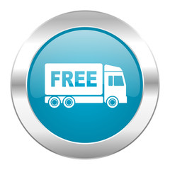 free delivery internet blue icon