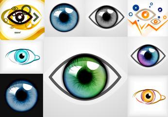 Mega collection of eye design templates