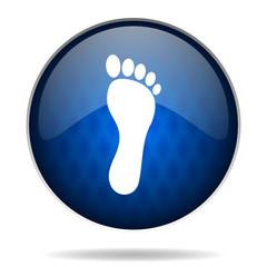 feet internet blue icon