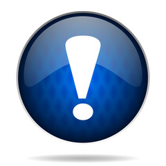 warning internet blue icon