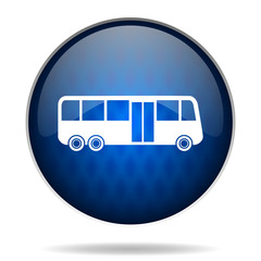 bus internet blue icon