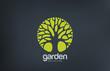 Obrazy na płótnie, fototapety, zdjęcia, fotoobrazy drukowane : Green Circle Tree vector logo design. Garden logotype