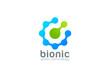 Green Technology Abstract Logo design vector. Molecule