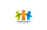 Social Network Team Partners Friends logo design vector - 70474557