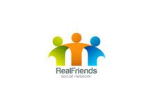 Red Social Partners Equipo Amigos logo diseño de vectores