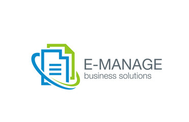 Business management logo design vector. Web solution