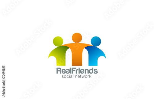 Zespół sieci społecznej partnerów partnerów logo wektor
