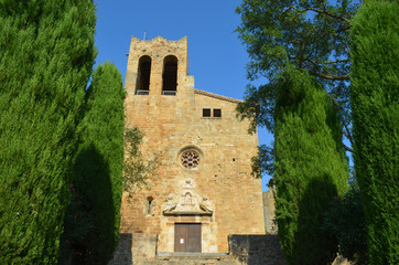 Medieval church in Pals, Costa Brava