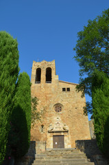 Medieval church in Pals, Costa Brava