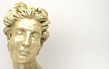Scultura Apollo David, volto uomo, bellezza uomo
