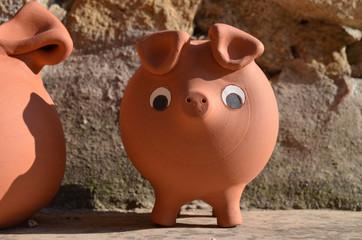 Cute terracotta pig