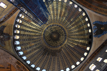View of main dome of Hagia Sophia