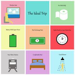 Ideal trip concept