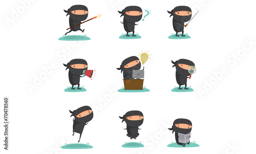Ninja Mascot Set 1 - 70478560