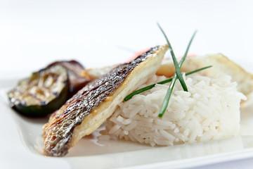 fresh baked fish