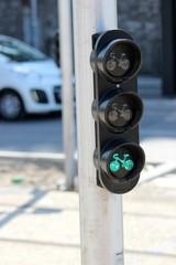 Feu vert pour cyclistes
