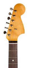 Headstock of the classic electric guitar