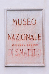 Targa Museo Nazionale di San Matteo, Pisa